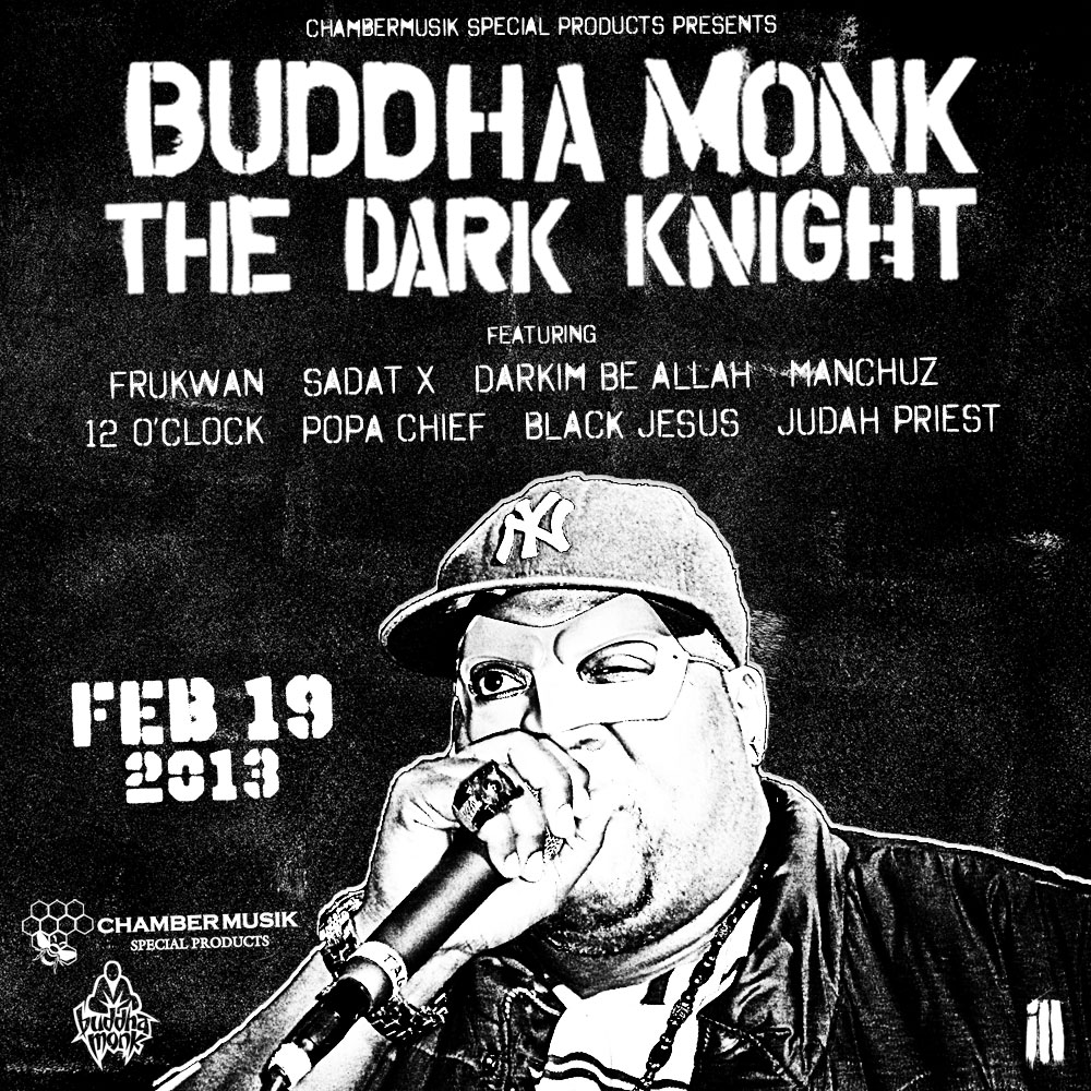 Buddha Monk - The Dark Knight in stores 2-19-13!