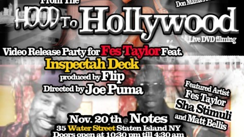 Video release party for Fes Taylor's The Streets feat. Inspectah Deck