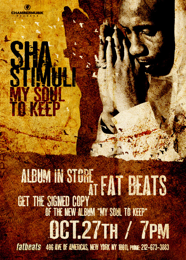 Sha Stimuli Fat Beats instore Tuesday!