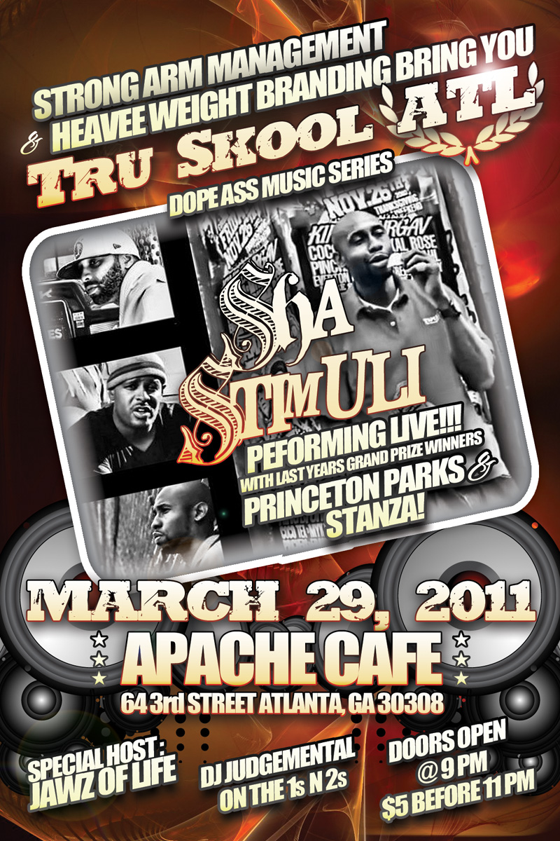 Sha Stimuli being featured at Tru Skool Atlanta, 3-29-11