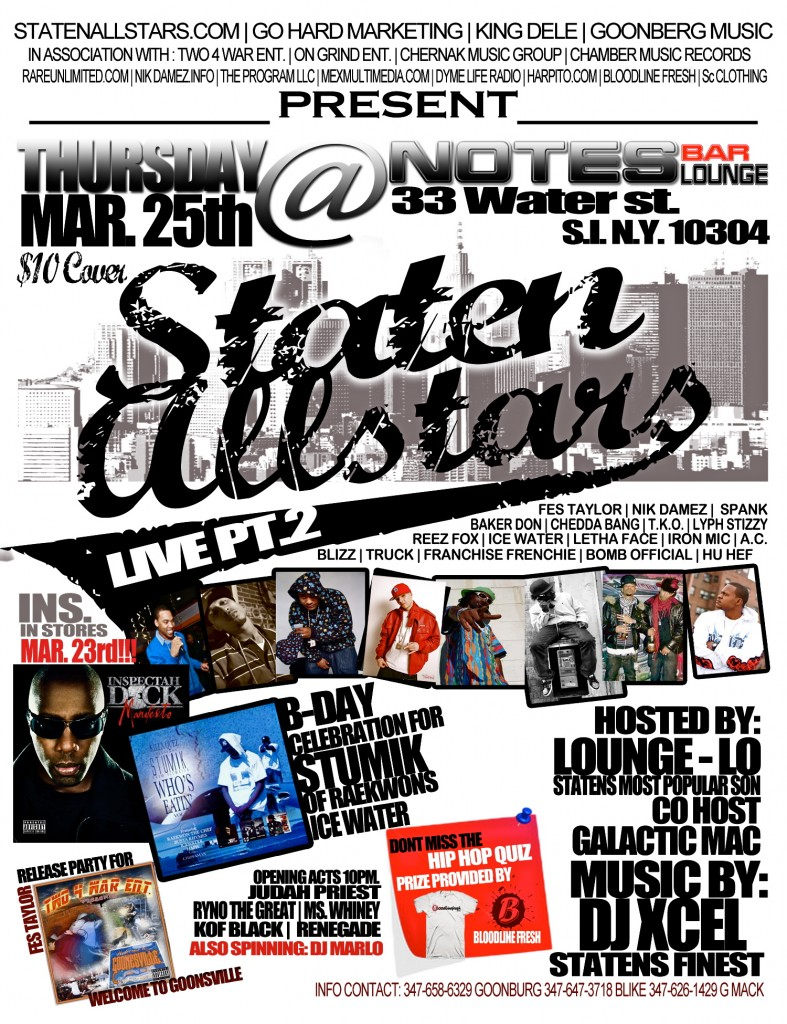Staten Allstars Live Part 2 + Welcome to Goonsville previews